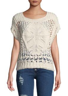 Free People Cap-Sleeve Crochet Trop