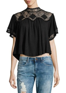 Free People Cape May Lace Top