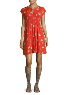 Free People Capsleeve Floral Smock Dress