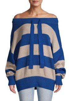 Free People Cassidy Off-The-Shoulder Striped Knit Sweater