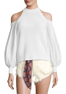 Free People Catch-A-Glimpse Cold-Shoulder Sweater