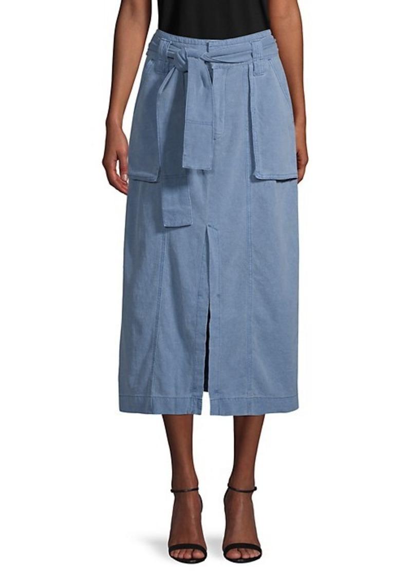 Free People Catching Feelings Midi Denim Skirt