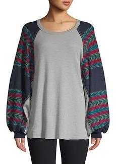 Free People Chevron Cotton-Blend Sweater