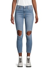 Free People Classic Distressed Jeans
