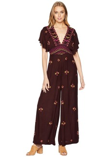 Free People Cleo Embroidered Jumpsuit
