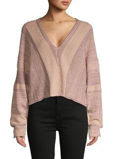 Free People Cold-Shoulder Cotton-Blend Top