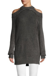 Free People Cold-Shoulder Cotton Sweater