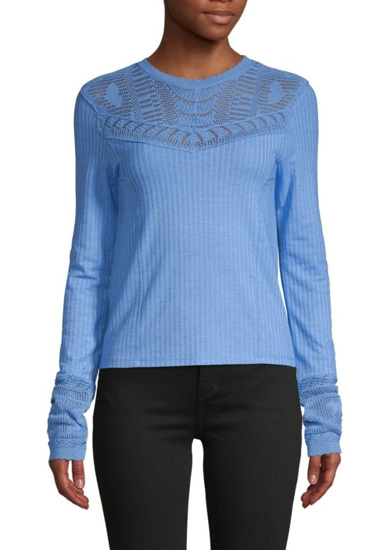Free People Colette Pointelle Ribbed Sweater