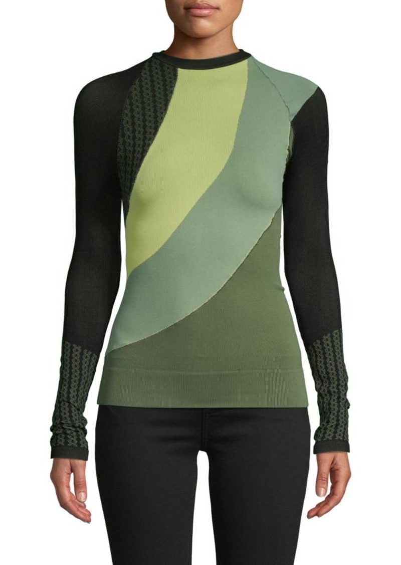 Free People Colorblock Long-Sleeve Top