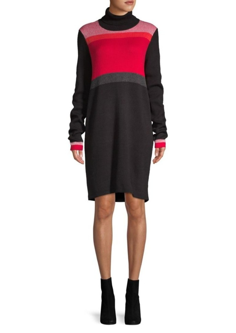 Free People Colorblock Turtleneck Dress
