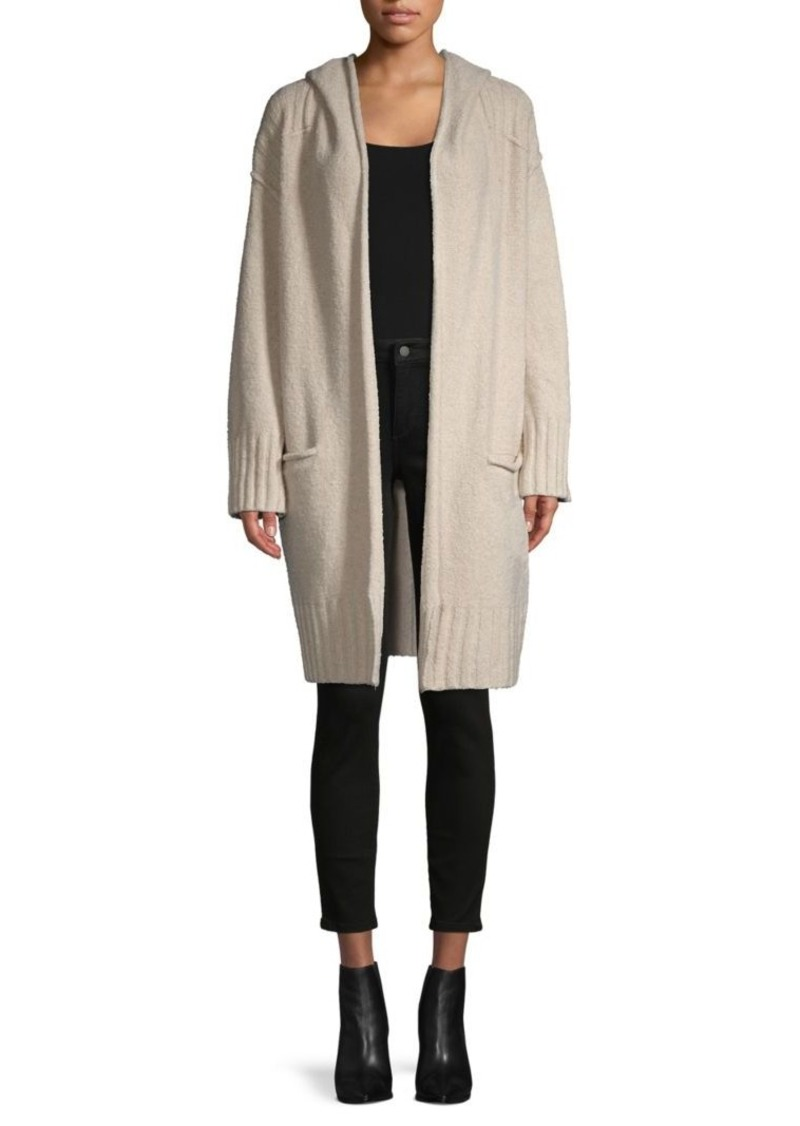 Free People Cotton-Blend Hooded Cardigan