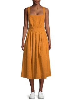 Free People Crisscross Cotton Midi Dress