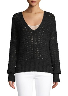 Free People Crochet Cotton-Blend Top