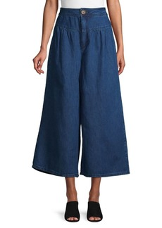 Free People Cropped Wide-Leg Jeans