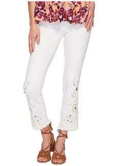 Cutwork Cigarette Jeans - White
