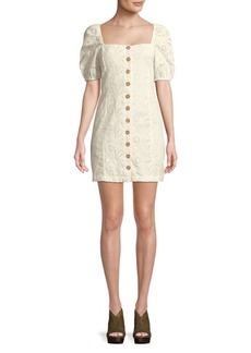 Free People Daniella Cotton Mini Dress