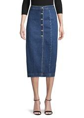 Free People Denim Midi Skirt