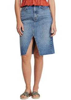 Free People Denim Pencil Skirt