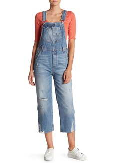 Free People Distressed Boyfriend Overalls