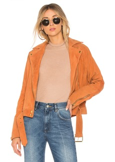 Free People Drapey Suede Moto