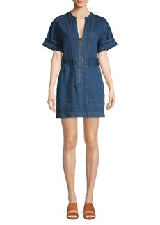 Free People Dream On Denim Mini Dress