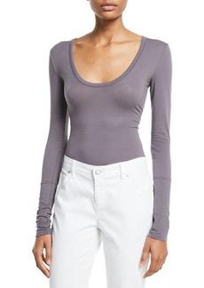Free People Easy Peasy Long-Sleeve Bodysuit