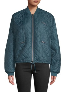 Free People Easy Quilted Bomber Jacket