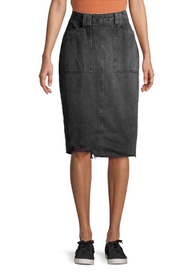 Free People Elisa Denim Pencil Skirt