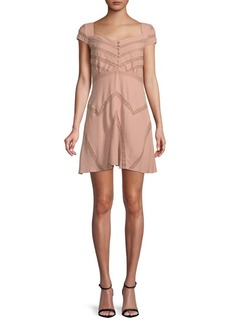 Free People Elle Cap-Sleeve Mini Dress