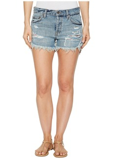 Free People Embroidered Destroyed Shorts
