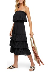 Endless Summer by Free People Sea Breeze Strapless Crop Top & Midi Skirt