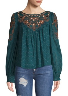 Free People Everything I Know Peasant Blouse