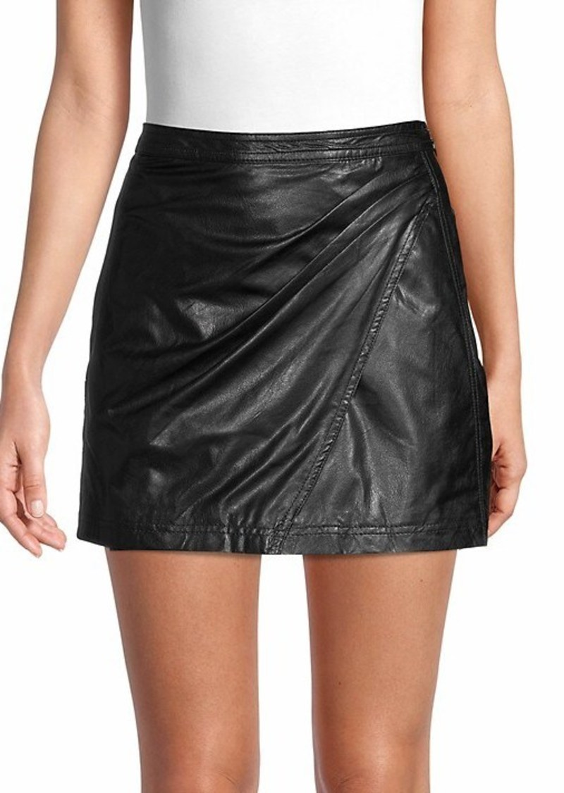 Free People Fake Out Faux Leather Mini Skirt