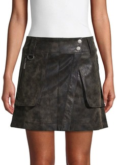 Free People Faux Leather Mini Skirt
