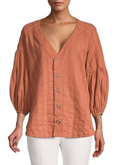 Free People Feel It Still Balloon-Sleeve Top