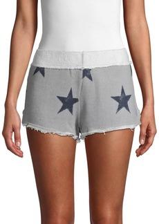 Free People Fleece Star Shorts