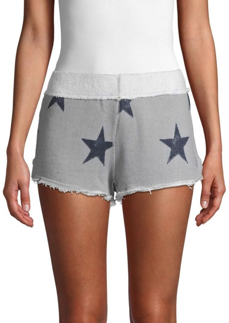 Free People Fleece Star Shorts