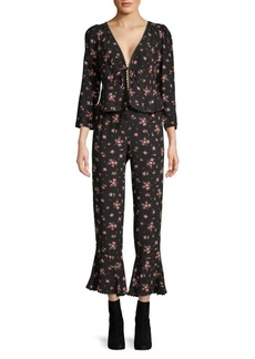 Free People Floral El Paso Pant Set