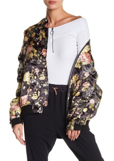 Free People Floral Jacquard Bomber Jacket