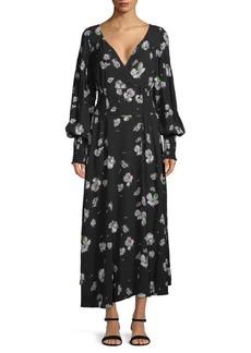 Free People Floral-Print Long-Sleeve Midi Dress