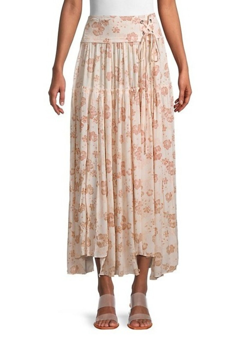 Free People Floral-Print Maxi Skirt