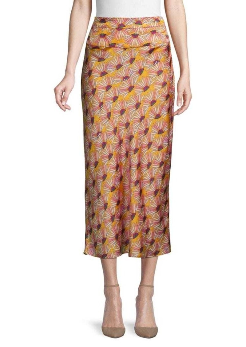 Free People Floral-Print Midi Skirt
