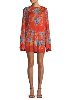 Free People Floral-Print Mini Dress