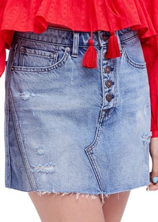 We the Free by Free People A-Line Denim Skirt