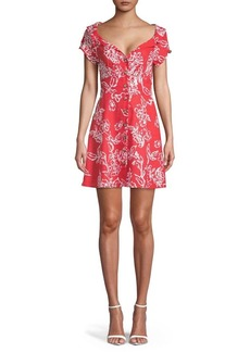Free People A Thing Called Love Button Front Dress