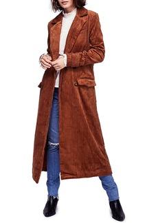 Free People Abbey Road Wide Wale Cotton Corduroy Duster Coat
