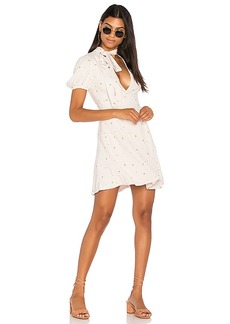 Free People Abbie Printed Mini in White. - size 0 (also in 10,2,4)