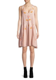 Free People Adelaide Embroidered Shift Dress