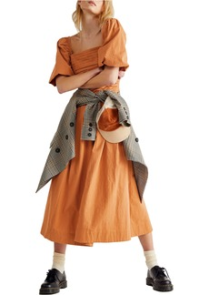 Free People Ain't She a Beaut Puff Sleeve Ruched Dress