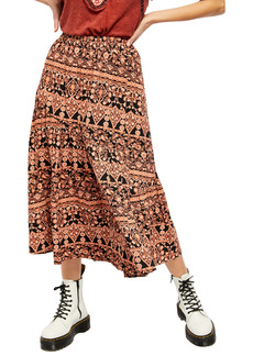 Free People All About the Tiers A-Line Skirt